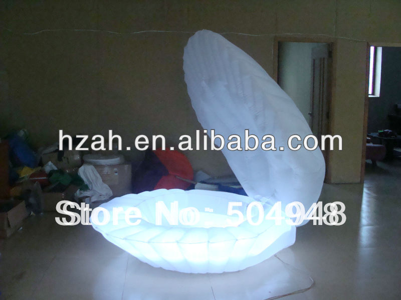 Wedding Light Inflatable Shell environmentally friendly pvc inflatable shell water floating row of a variety of swimming pearl shell swimming ring