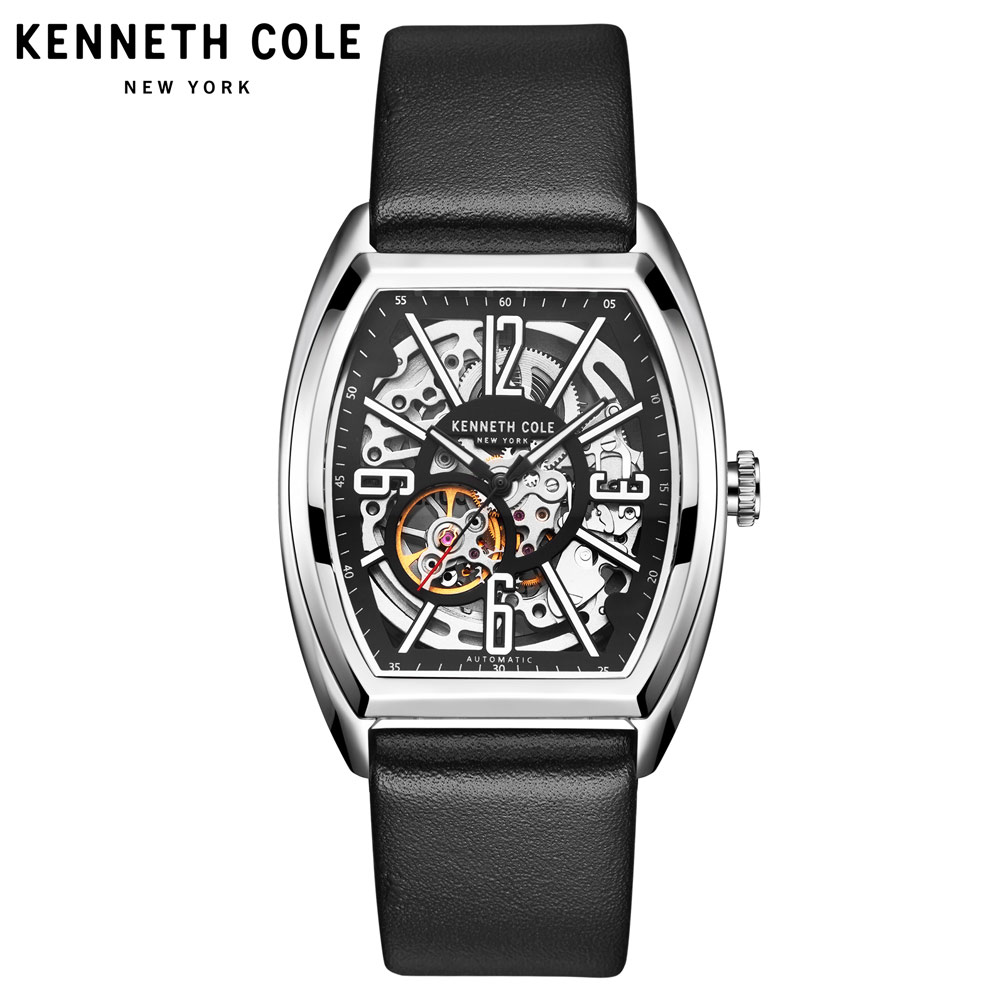 0b191b13a Detail Feedback Questions about Kenneth Cole Mens Mechanical Watches Black  Leather Buckle Large Square Dial Automatic Self Top Luxury Brand Watches  KC1750 ...