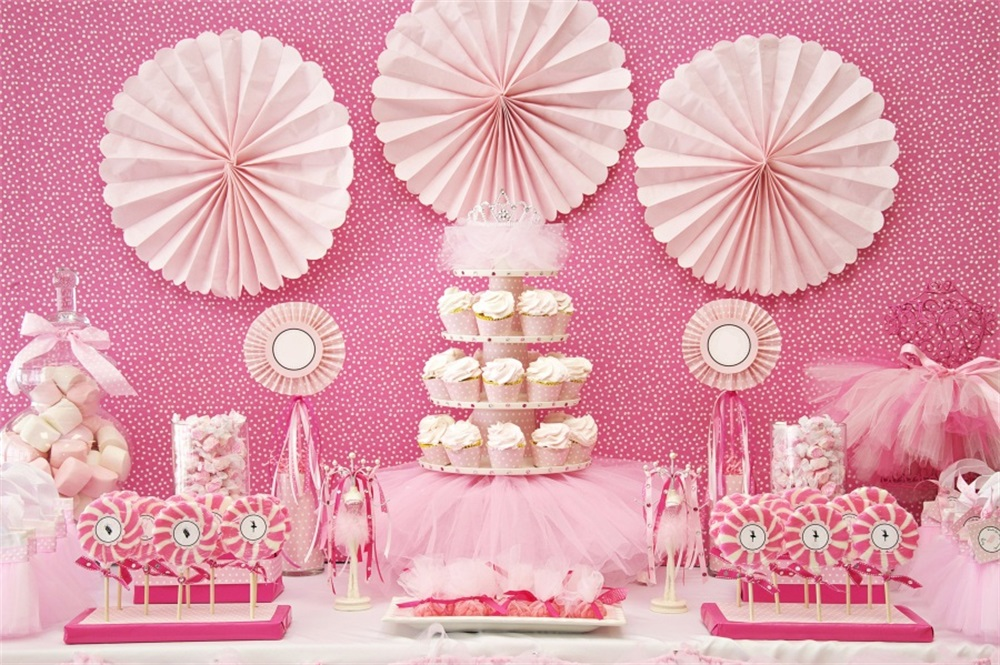 Laeacco Candy Cake Scene Baby Birthday Decoration Photographic Backgrounds Customized Photography Backdrops For Photo Studio