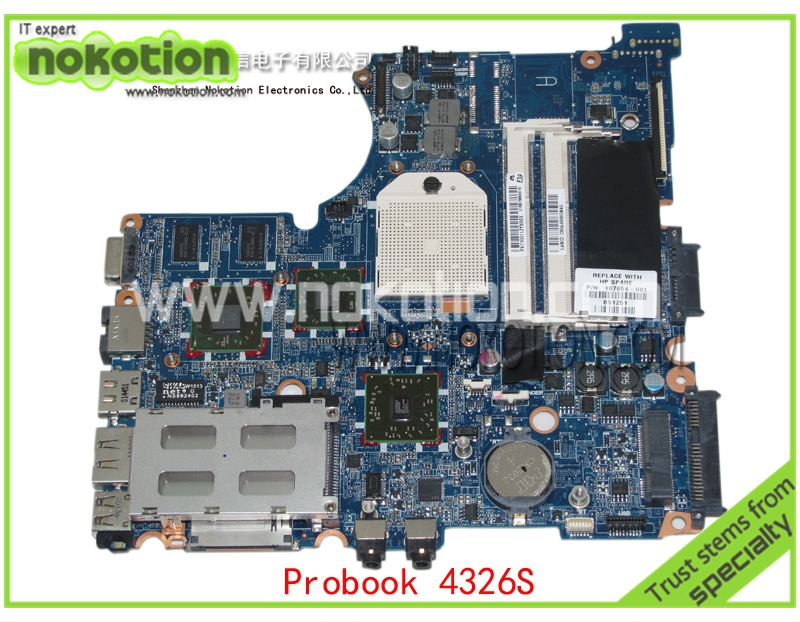 607654-001 Laptop motherboard for HP Compaq Probook 4325s 4326S motherboard with ATI Mobility Radeon HD 5430 DDR3 mainboard 654306 001 fit for hp probook 4535s series laptop motherboard 1gb ddr3 socket sf1 100% working