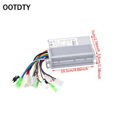 OOTDTY 1 Pc DC Motor Controller 36V/48V 350W Electric Bicycle E-bike Scooter Brushless 12 350w 36v electric brushless hub motor electric scooter motor kit e scooter motor for xiaomi scooter