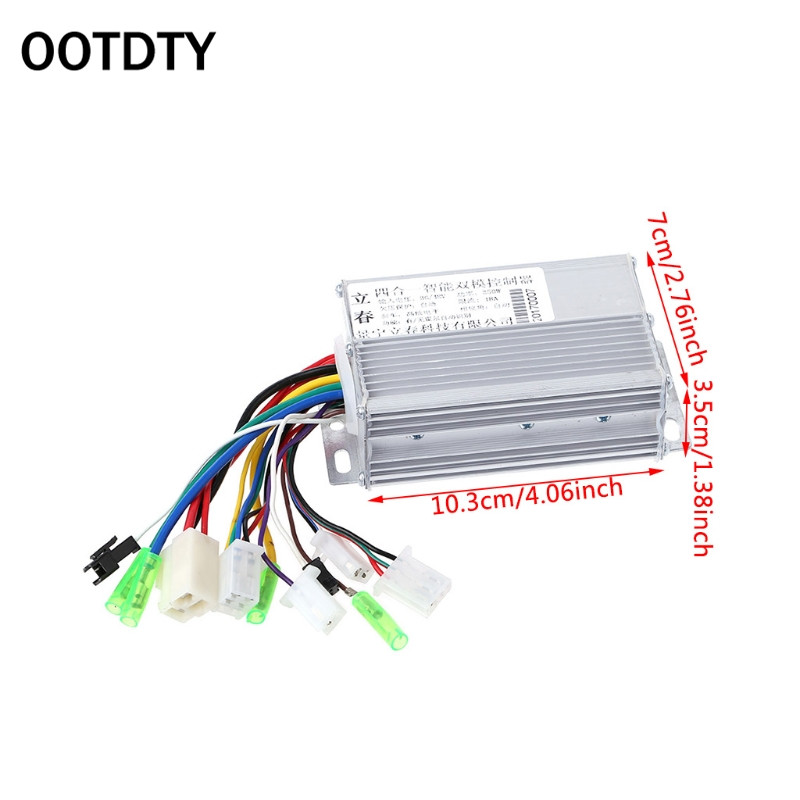 OOTDTY 1 Pc DC Motor Controller 36V/48V 350W Electric Bicycle E-bike Scooter Brushless