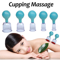 5Pcs Massage Cups PC Rubber Anti Cellulite Cupping Massage Vacuum Massage Therapy Set of Family Body Massage Helper
