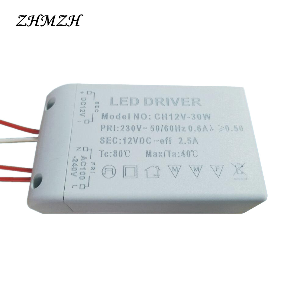 DC12V LED Driver 6W 12W 15W 20W 30W Constant Voltage Power Supply for G4 LED Beads LED Strip AC 220V Input Lighting Transformer 20pcs 12w led light panel smd 5730 ic driver pcb input voltage ac110v 130v needn t driver aluminum plate free shippping
