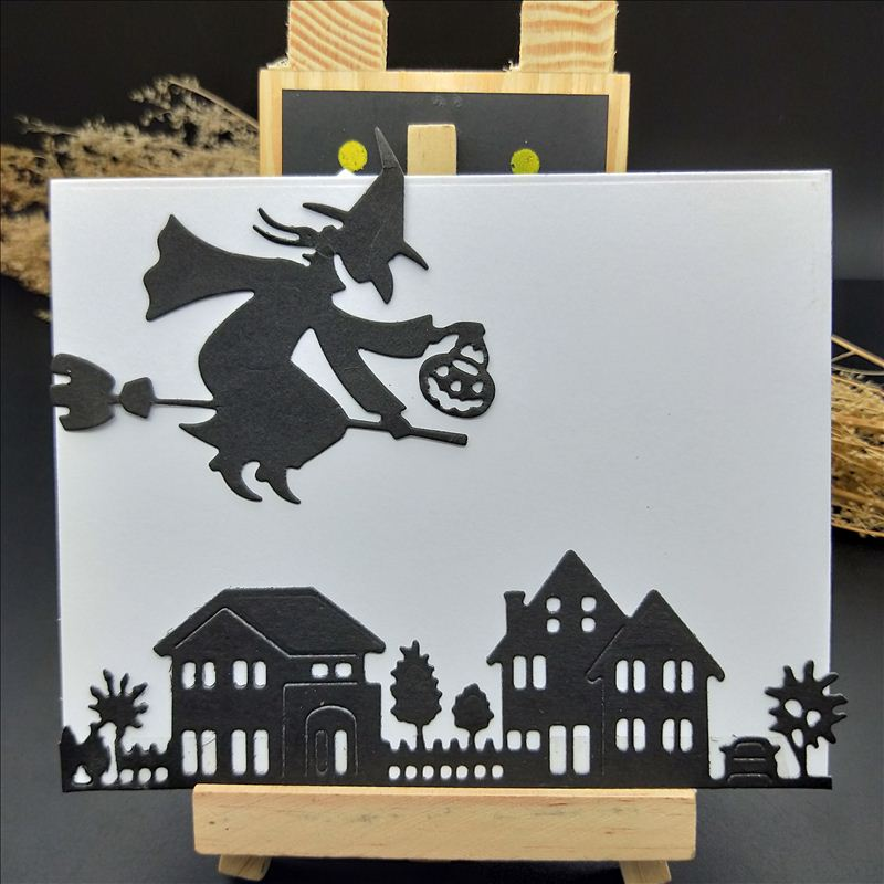 new <font><b>halloween</b></font> <font><b>dies</b></font> <font><b>stamps</b></font> <font><b>and</b></font> <font><b>dies</b></font> for card making 2018 For DIY Scrapbooking Card Album Photo Decoration Embossing Folder image