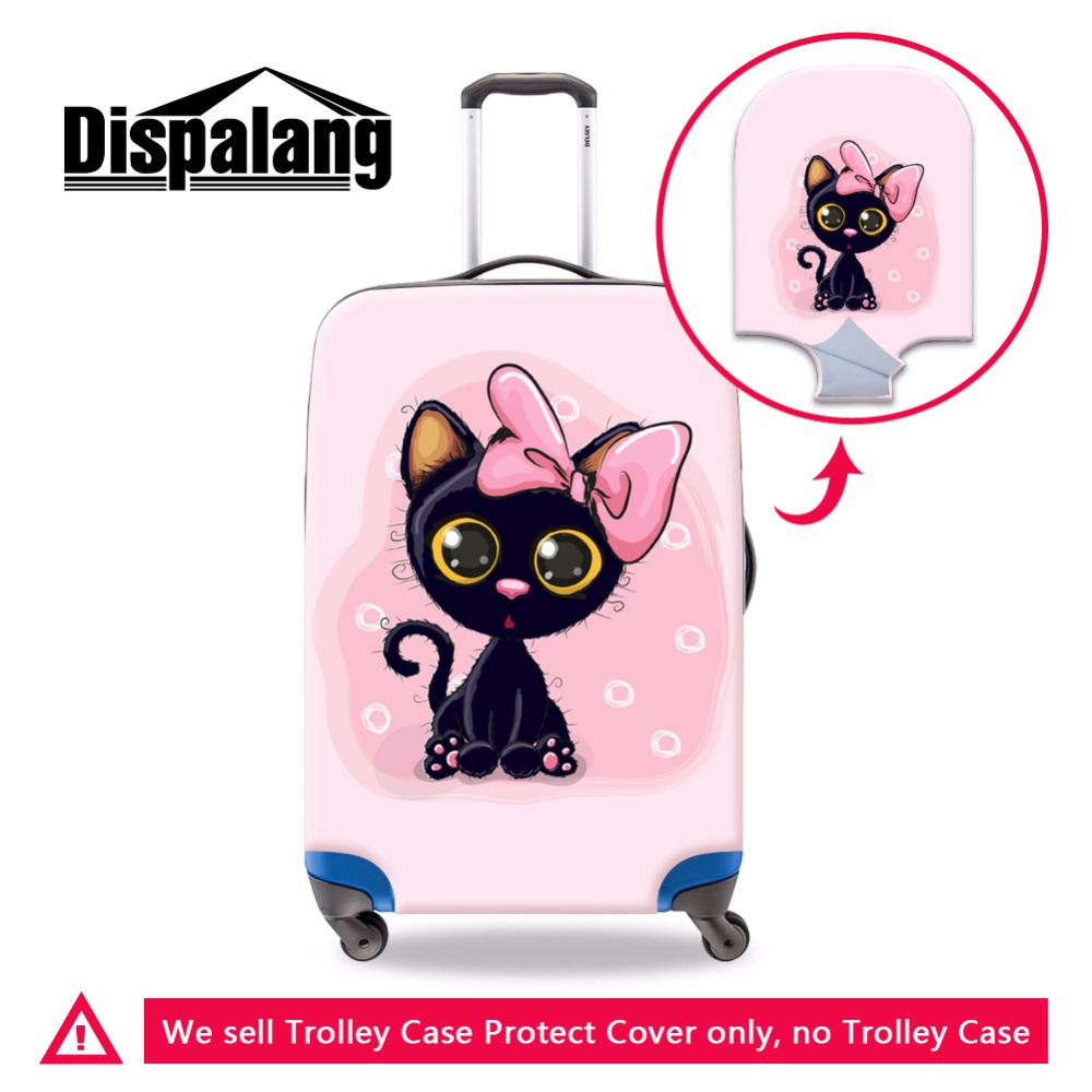 Dispalang Elastic Luggage Cover Cartoon Cute Travel Accessories For Girls Trolley Bag Cover Zipper Suitcase Covers Protectors