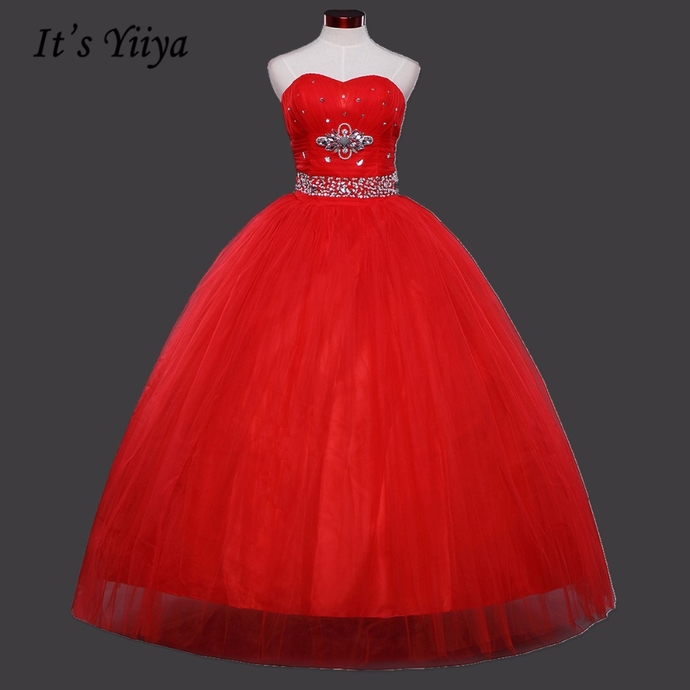 Popular strapless ball gown wedding dress with bling buy cheap 2017 summer custom made strapless sequins bling wedding dresses red cheap bride ball gowns real photovestidos ombrellifo Gallery