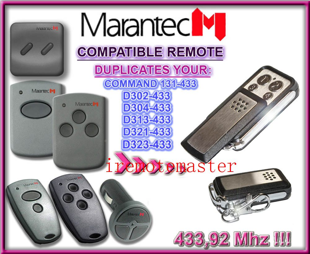 MARANTEC D302-433,D304-433,D313-433,D323-433,D321-433,Command 131-433 replacement remote marantec command 131 433 d302 433 d304 433 d313 433 d321 433 d323 433 repalcement remote control 433mhz free shipping
