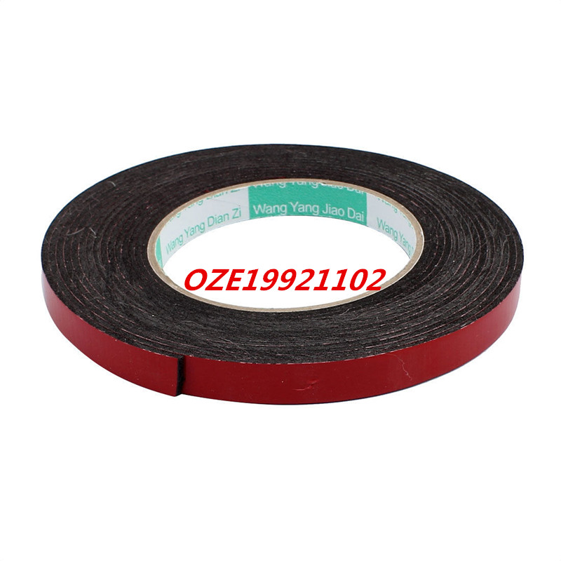 Door Seal 12x2mm Dual-side Adhesive Shockproof Sponge Foam Tape 5M Length 2pcs 2 5x 1cm single sided self adhesive shockproof sponge foam tape 2m length