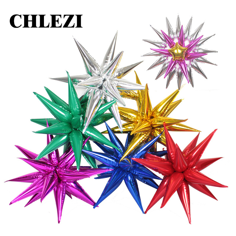 12pcs Explosion star balloon party opening ceremony Water drop cone Foil ball