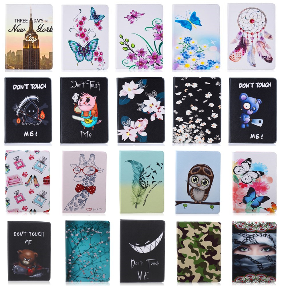 Fashion Stand PU Leather Case For Samsung Galaxy Tab A 9.7 inch SM T550 T551 T555 Beautiful Painted tablet Shell Cover #D pu leather tablet case cover for samsung galaxy tab 4 10 1 sm t531 t530 t531 t535 luxury stand case protective shell 10 1 inch