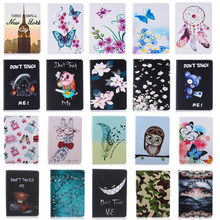 Fashion Stand PU Leather Case For Samsung Galaxy Tab A 9.7 inch SM T550 T551 T555 Beautiful Painted tablet Shell Cover #D yh hybrid stand silicone armor pu leather tpu back case cute cover for samsung galaxy tab a 9 7 inch tablet sm t555 t550 t555c