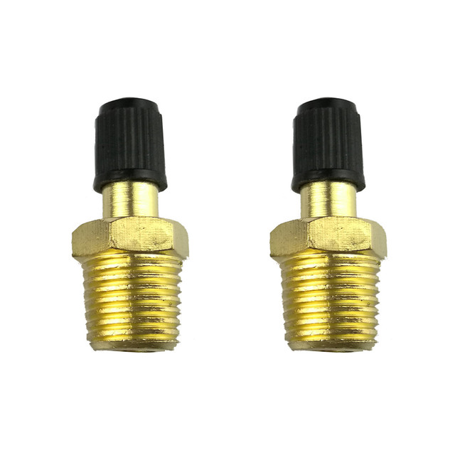 2017 New Hot Sale High Quality 2PC 1/4 Inches Brass Air Compressor Tank Fill Valve Car Electronics Accessories