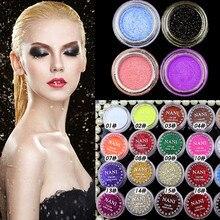 24 Colors Fashion Hot Mixed Colors Shine Glitter Eyeshadow Powder Pigment Mineral Spangle Beauty Eye Shadow Makeup Tool Masquera