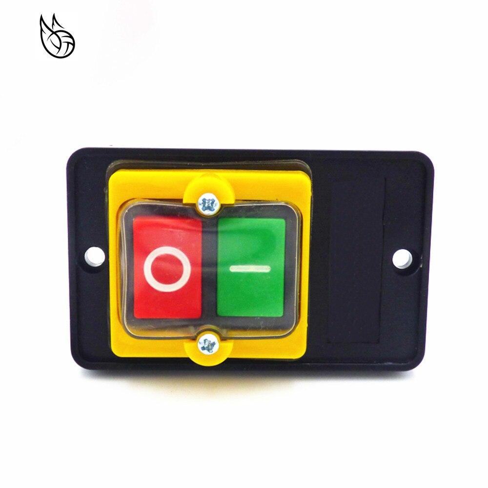 380V 10A Bot/ón Pulsador Impermeable Interruptor De Encendido//Apagado De La Prensa De La M/áquina AC 220V