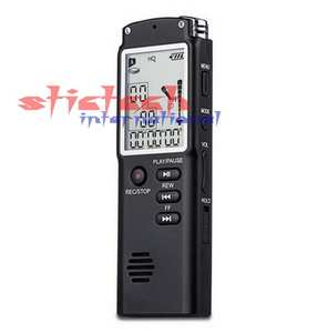 Professional Dictaphone Voice-Recorder Mp3-Player Audio Digital USB 8GB by with Dhl Ems
