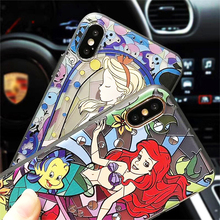 Snow White Mermaid 3D Relief For iPhone7 6 6s Plus iPhone X 6 8  6S Case