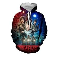 New Stranger Things TV Mens Hoodie 3D Print Trend Pullover Casual Strangers stuff mens sports hoodie