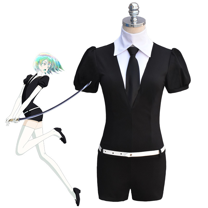 Land of The Lustrous Cosplay Costumes Phosphophyllite Cosplay Cinnabar Diamond Bort Morganite Antarcticite Jumpsuits Uniform