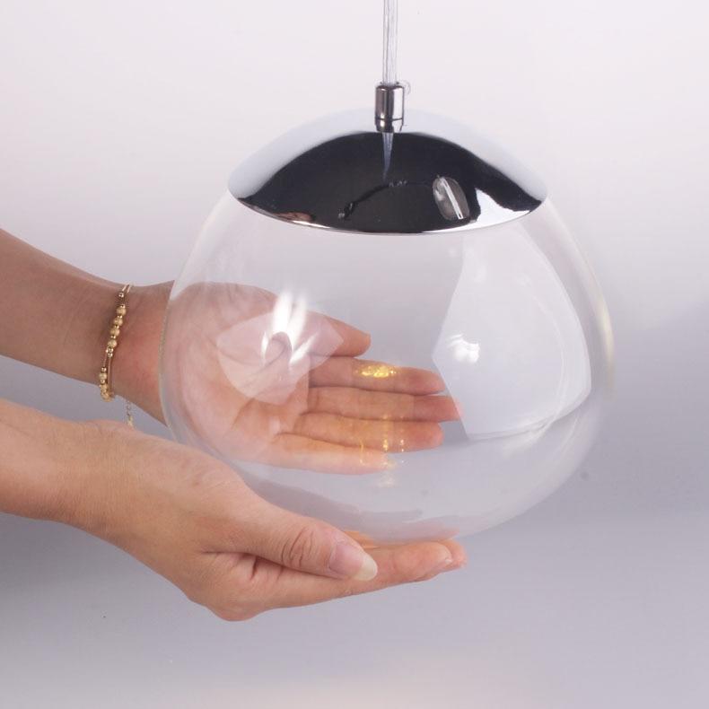 Modern Glass persimmon 3W LED Dining Room Pendant Light Creative American Glass Bubble Restaurant  Bar Counter Pendant Lamp