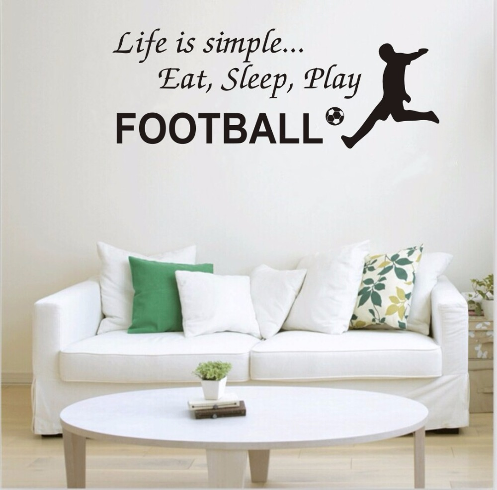 Can be customized ebay bursts of football wall stickers living can be customized ebay bursts of football wall stickers living room bedroom sofa background mural green pvc decorative decals in wall stickers from home amipublicfo Gallery