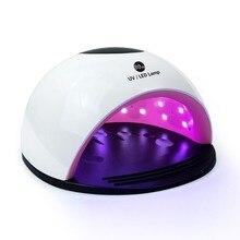 80 W Tırnak Kurutucu UV Lamba LED tırnak lambası jel cilalı kürleme Çift Işık Alt lcd ekran Fototerapi tırnaklar için lamba Araçları