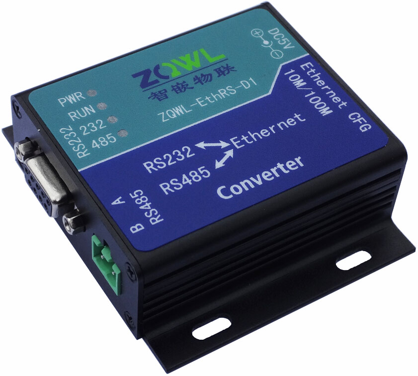 Serial Server Ethernet Transfers Serial Port to Network RS232\RS485 Modbus TCP With Power Supply все цены