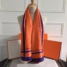 New Woman's Silk Scarf Length 55″ 140cm Shawl Stripe Pattern Kerchief The Original Scarf High Quality Hot Sale SBY167293