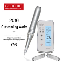 Goochie new desgin Medical Grade G6 Digital Permanent Makeup lip / eyebrow tattoo Rotary Machine, Battery powered Germany motor