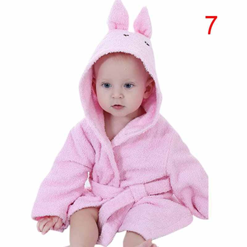 41573d028c Kacakid New Cute Cotton Hooded Animal Baby Bath Robe Cartoon Warm Towel  Character Kids Bathrobe Infant
