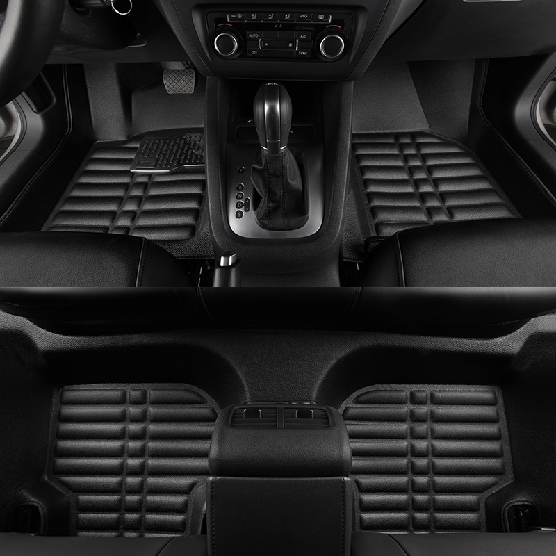 Car floor mats for peugeot 307, car mat black beige  gray brown