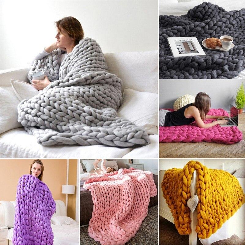 Nouveau laine mérinos jeter picnic voyage couverture 100/% naturelle throw parfait pour cadeau