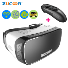 All-in-one Virtual Reality 3D VR BOX Video Game Glasses ZV21 Android 5.1 Google Cardboard  Quad Core 1920*1080p WiFi +Controller