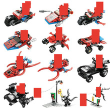 6pcs/lot  Super Heroes Spiderman Building Blocks Figures Brinquedos Bricks Educational Toys for Children Christmas Gift dr tong super heroes d928 nexus knights figures clay jestro macy axl lance building blocks bricks diy toys children gifts