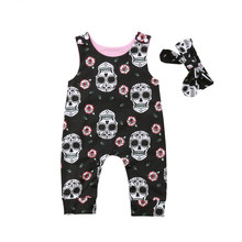 US 2PCS Newborn Baby Girl Boy Autumn Clothes Set Knitted Romper Jumpsuit Outfits