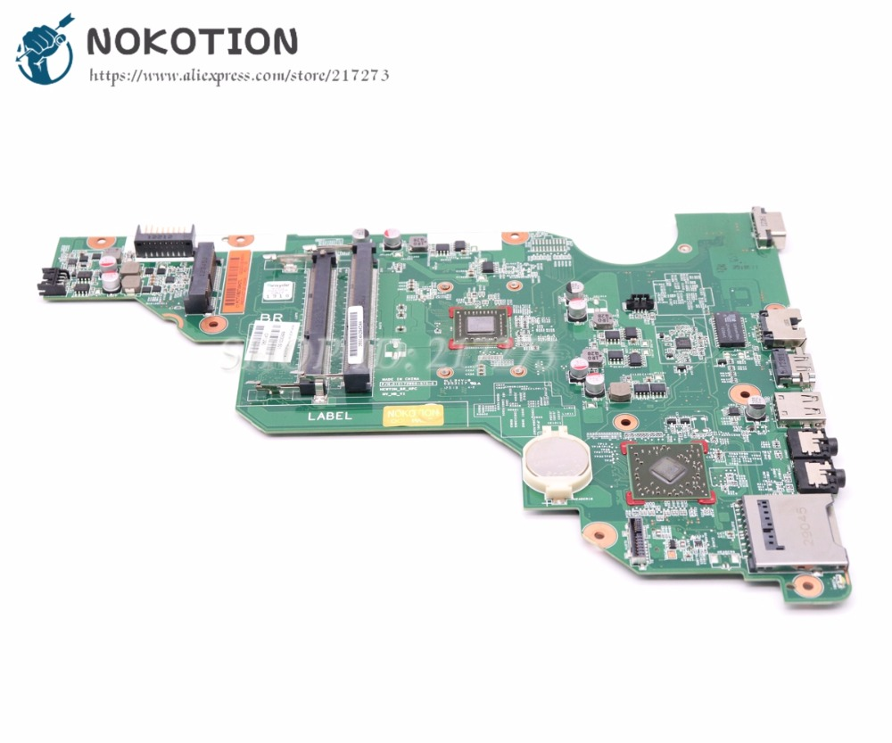 NOKOTION For HP Compaq CQ58 2000 655 Laptop Motherboard 688303-501 688303-001 010172W00-600-G MAIN BOARD UMA DDR3 688303 001 fit for hp 2000 58 655 laptop motherboard ddr3 fully tested working