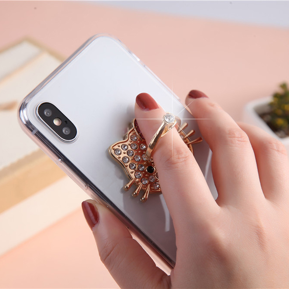 For Samsung A8 2018 Finger Ring Case Acrylic Back Tpu Side Cover Diamond Case For Samsung A8 Plus 2018 Coque Funda