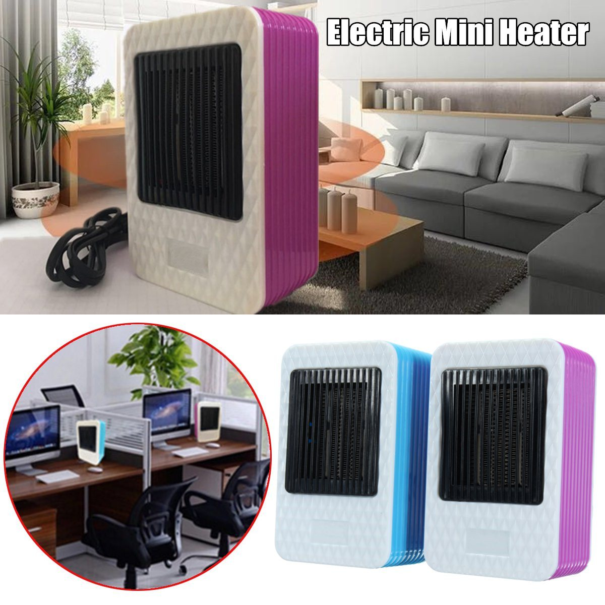 220V AC 500W Electric Air Heater Powerful Warm Blower Portable Mini Fast Heater Fan Stove Radiator Room Warmer 220v 3 gear mini electric warm air blower electric air heater room fan heater cold and warm dual purpose overheat protection
