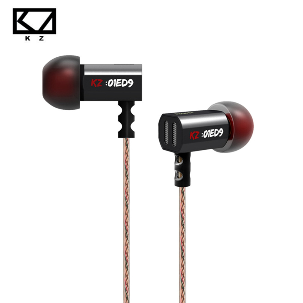 Original KZ ED9 3.5mm HiFi In-Ear Tuning Nozzle Earbuds Earphone Bass Stereo Earphones For Mobile Phone PC with microphone kz zs2 in ear earphone dual driver hifi headphones bass earbuds music stereo earphones with microphone for cell phone mp3 mp4 pc