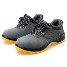 Men Safety Work Boots Breathable Lightweight Casual Shoes Air-permeable Smash Male Steel Toe Cap