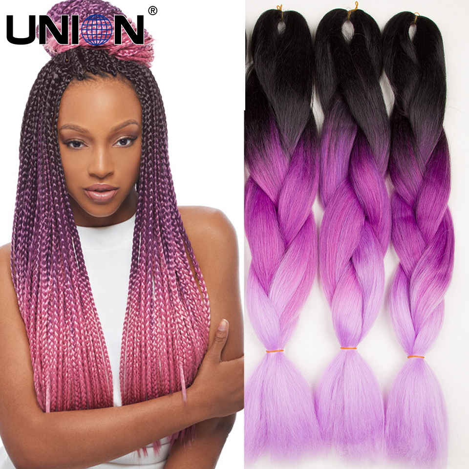 24inch 100g Popular Three Color Omber Braiding Hair Diy