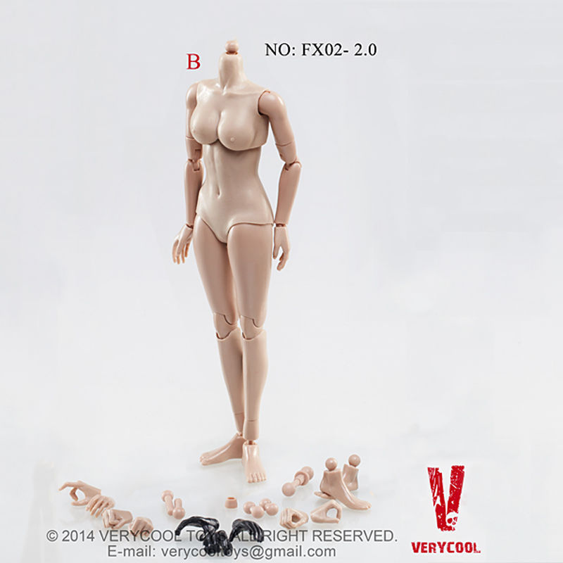 """VERYCOOL 1//6 Female Body Figure Model FX02-C Mid Bust for 12/"""" Action Doll"""