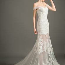 FOLOBE Vintage Strapless Beading Mermaid Wedding Dresses