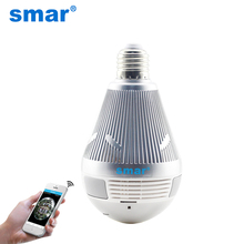 Smar 3MP Bulb Light Wireless IP Camera Panoramic Wi-Fi Fisheye Lamp Camera 360 Degree Mini Home CCTV Surveillance Cameras