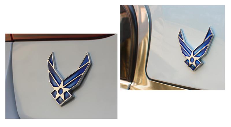 DSYCAR 3D Metal US Air Force Car sticker Logo Emblem Badge Car Styling for Fiat Bmw Ford Honda volkswagen Audi toyota opel DS VW 17
