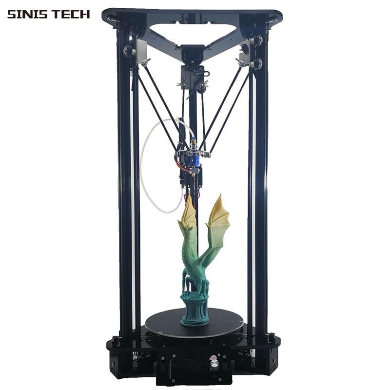 2019 Factory MINI 3D Printer DIY i3 Upgradest High Precision Delta 3D Printer Kits with 2GB SD Card Printing Area Dia. 180x320mm