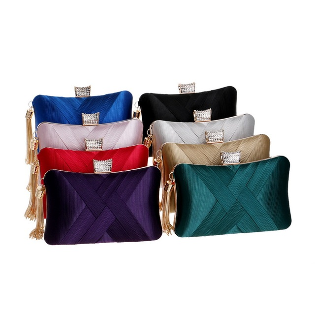 SEKUSA Tassel Fashion Ladies Day Clutch Bag Small Shoulder Handbags Female Party Wedding Evening Bag For Women Phone Purse 5