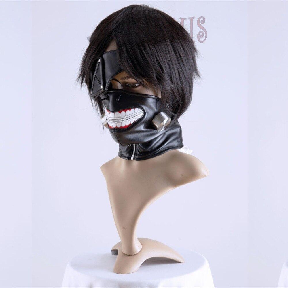 Athemis Tokyo Ghoul Kaneki Ken Mask Tənzimlənən fermuar maskaları - Karnaval kostyumlar - Fotoqrafiya 2