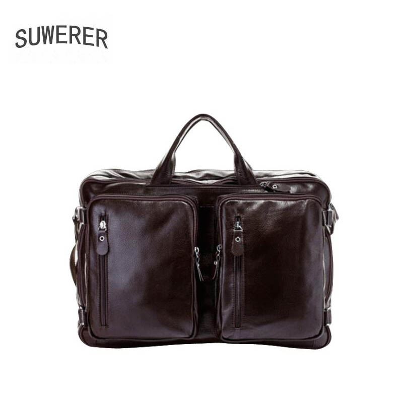 SUWERER 2019 New men Genuine leather bag famou brand real leather men bags Fashion Business computer bag travel big backpackSUWERER 2019 New men Genuine leather bag famou brand real leather men bags Fashion Business computer bag travel big backpack