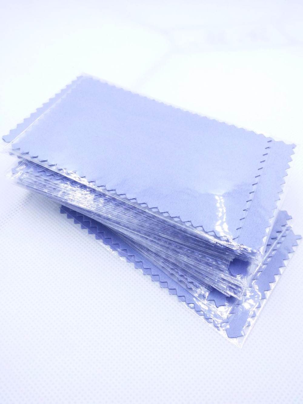 Blue 100pcs/pack Silver Polish Cloth for 925 sterling silver  Golden Jewelry cleaner shining Best Quality